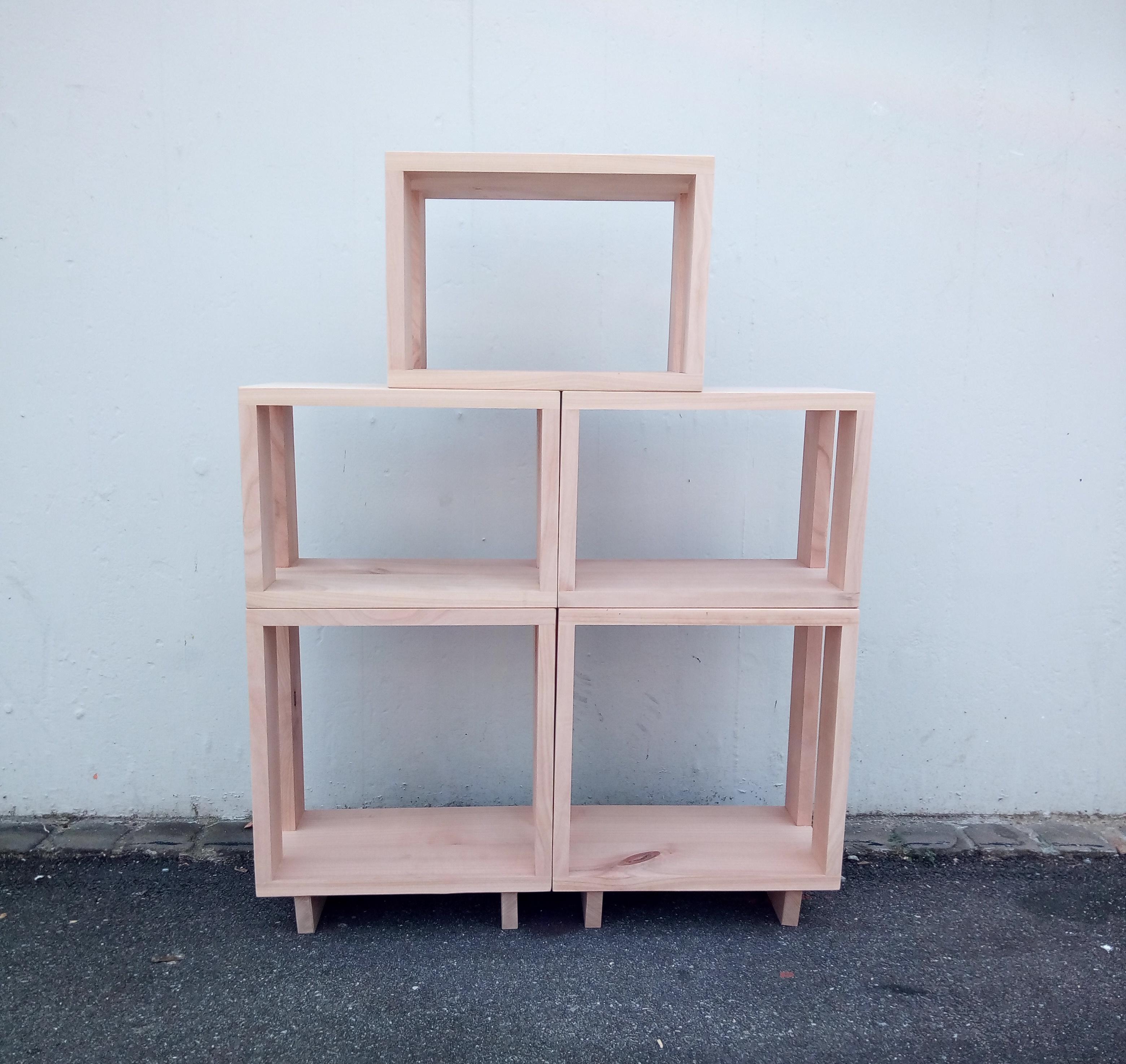 modulares b cherregal kirschbaum massiv schreinerei stephan k lin. Black Bedroom Furniture Sets. Home Design Ideas