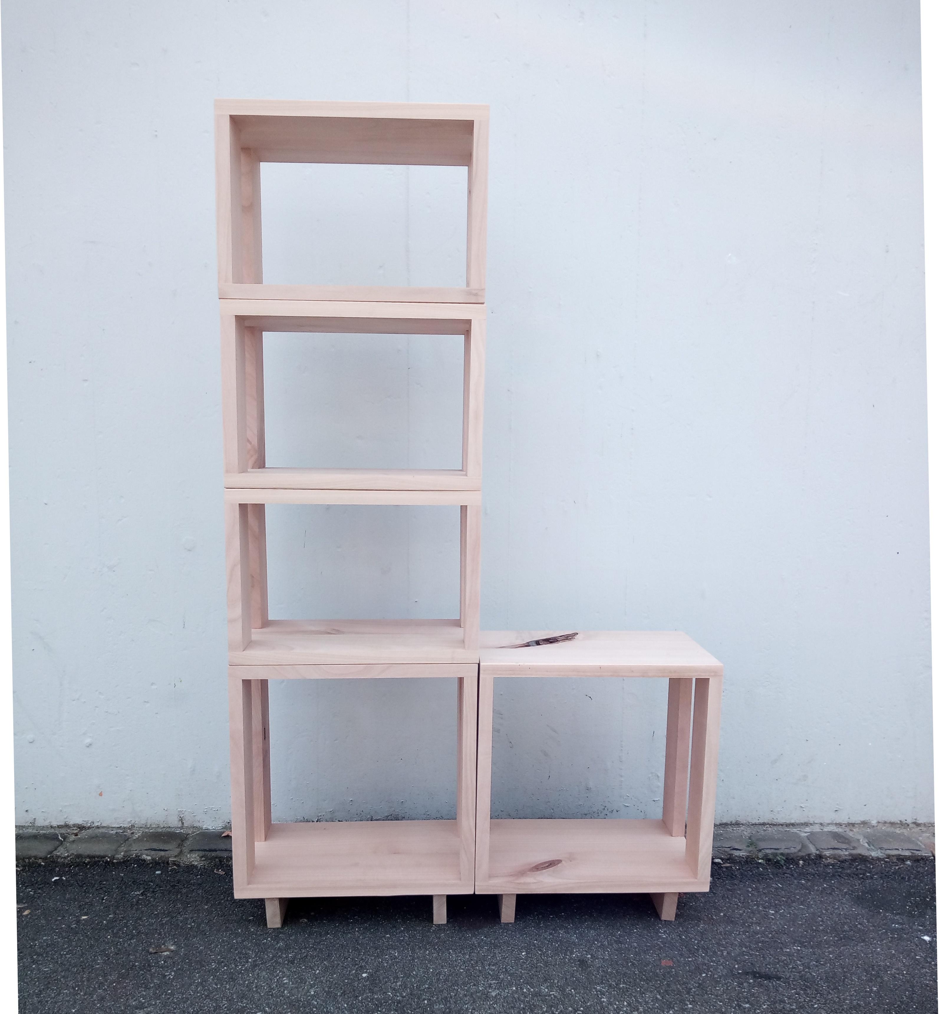 modulares b cherregal kirschbaum massiv schreinerei. Black Bedroom Furniture Sets. Home Design Ideas